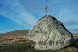 Croix sur le chemin de Compostelle en Aubrac